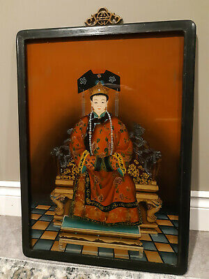 Chinese Reverse Glass Painting Of Noble Or Empress
