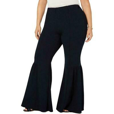 NY Collection Womens Pants Black Size 1XP Plus Petite Flare Stretch $54 225