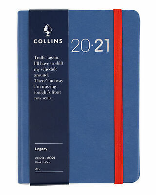 Collins Legacy Financial Year Diary 2020-2021   A6 - Week to view - Blue - polyp