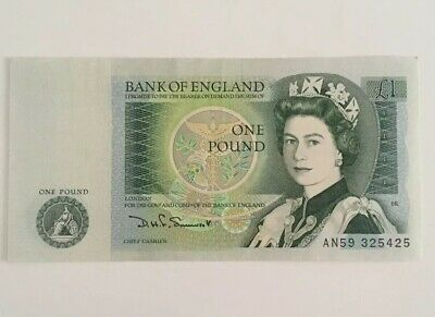 Uncirculated 1978-1983 Bank Of England One Pound £1 Note Unused Serial An59