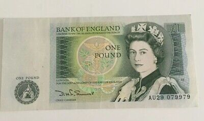 Uncirculated 1978-1983 Bank Of England One Pound £1 Note Unused Serial Au29