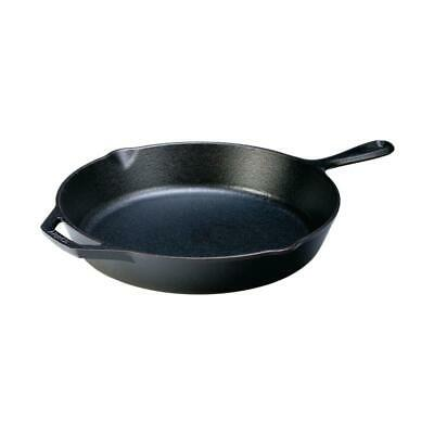 Lodge 12 in. Cast Iron Skillet Assist Handle Durable Cookware Frying Pan Kitchen