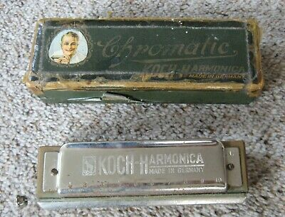 1920's Koch Chromatic Harmonica in Original Box