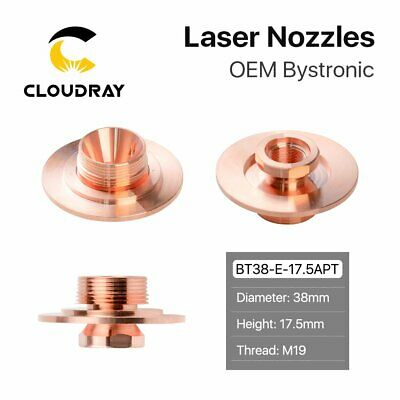 Laser Nozzle Adapter Dia.38mm H.17.5 M19 PIN:10046030 for Bystronic Laser Head