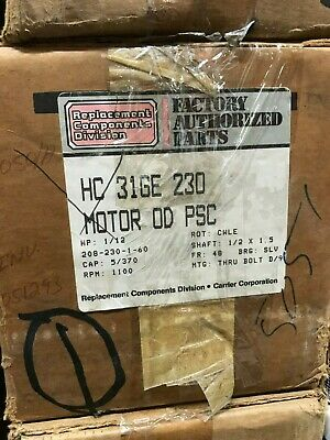 "Factory Authorized Parts Motor Part # Hc 31Ge 230 "" New Old Stock """