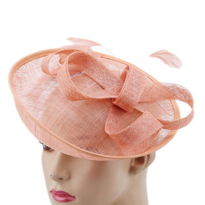 Feather Mesh Net Veil Party Flower Clip Hairband for Women New Fascinator Hat J
