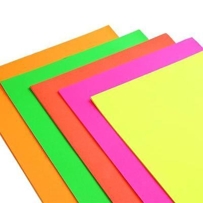 40 Sheets of A4 Premium NEON Card Assorted Colours Scrapbooking Crafts Paper