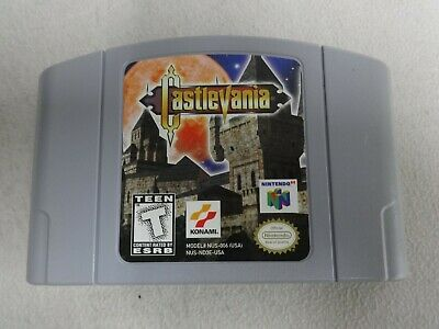 EUC Authentic Castlevania Nintendo 64 N64 Cart Only Free Ship US Version