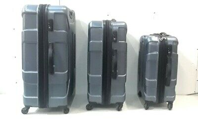 "Samsonite Centric 3 Piece Hardside Luggage Set Spinners 21"" 24"" 28""- Blue Slate"