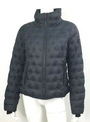 The North Face Womens Holladown Crop Jacket Size Medium Black FLAW