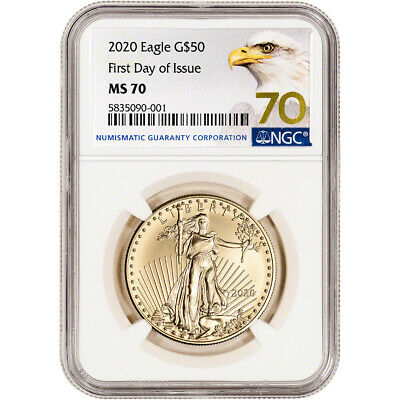 2020 American Gold Eagle 1 oz $50 - NGC MS70 First Day of Issue Grade 70