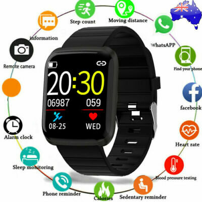 AU bluetooth Smart Watch Bracelet Heart Rate Monitor Wristband For iOS/Android