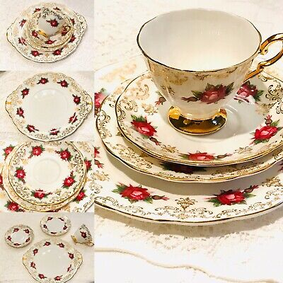 Afternoon Tea China Tea cup Saucer set - Pink Roses  -Royal Standard Bone china