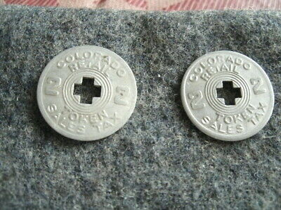 (2) Retail Tax TOKENS.  State of COLORADO.