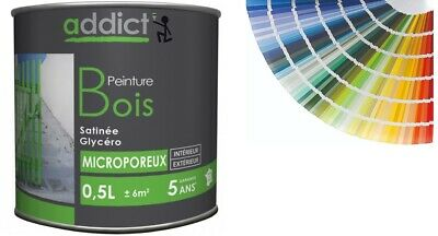 Peinture Bois Glycero Satin Microporeuse 0.5L Decoration Protection Intemperie