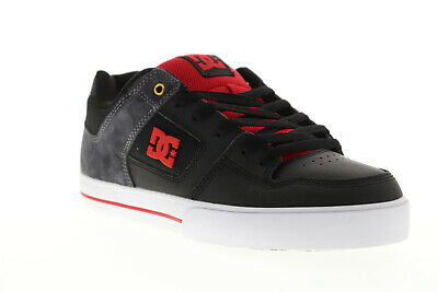 DC Pure SE Mens Black Leather & Suede Athletic Lace Up Skate Shoes