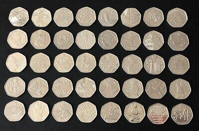 Cheap Olympic and collectible 50p coins.  NEW COINS FREQUENTLY LISTED.