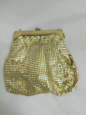 Genuine Vintage Gold Glomesh Evening Bag / Purse, made in NSW Australia