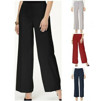 ALFANI NEW Women's Pleated Comfort Waist Wide-Leg Dress Pants TEDO