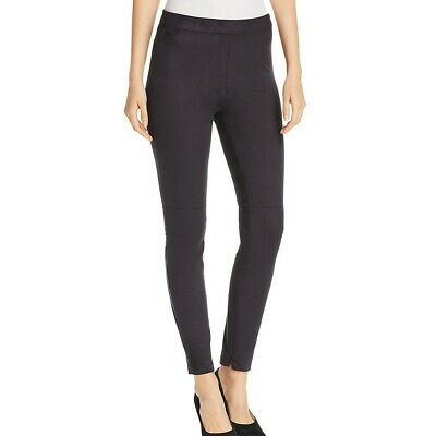 ELIE TAHARI Women's Roxanna Faux-suede Zipper Ankle Pull On Skinny Pants S TEDO