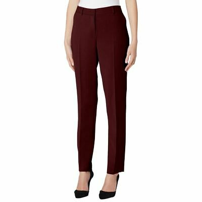 TAHARI ASL NEW Women's Wine Petite Wear To Work Casual Pants 14P TEDO