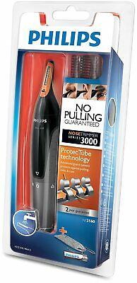 Philips Series 3000 Ear, Eyebrow & Nose Trimmer with 2 Eyebrow Combs & Pouch