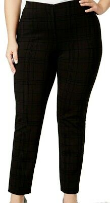 Alfani Women's Dress Pants Black Size 22W Plus Skinny-Leg Stretch $84 388