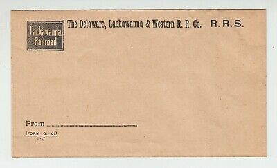 [74173] 1917 THE DELAWARE, LACKAWANNA & WESTERN RAILROAD Co. BUSINESS ENVELOPE