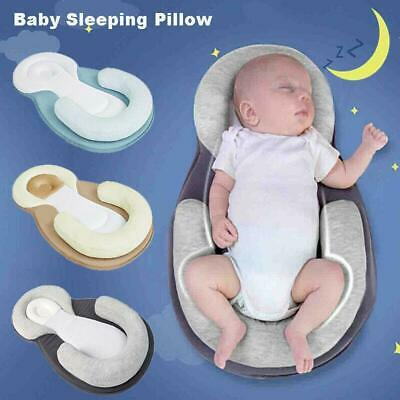 UK Baby Pillow Infant Newborn Cushion Prevent Flat Head Sleep Nest Pod Anti Roll