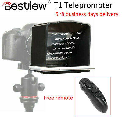 Bestview T1 Smartphone Teleprompter For Interview Speech Video Teaching W/Remote