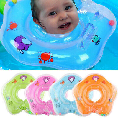 Baby Swim Ring Neck Collar Floating For Toddlers PVC Inflatable Dual Handle UK