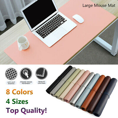 Large Leather  Computer Desk Mat Table  Keyboard Mouse Pad Laptop Cushion UK~