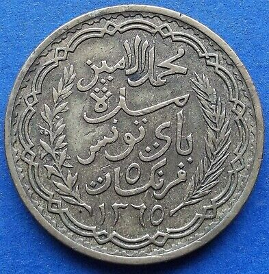 TUNISIA - 5 francs AH1365 1946 KM# 273 French Protectorate - Edelweiss Coins .