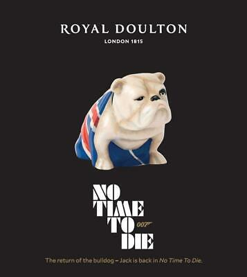 Royal Doulton No Time To Die Edition James Bond 007 Jack The Bulldog IN STOCK