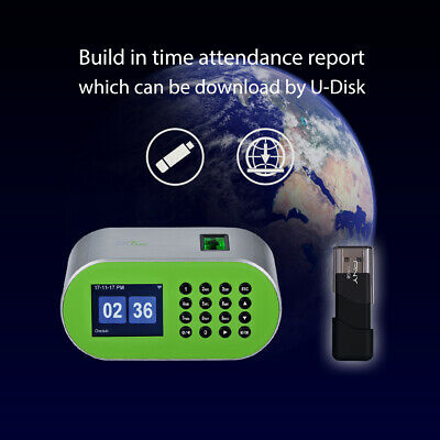 Desktop Fingerprint Time Attendance Machine Employee Recorder for Small Business