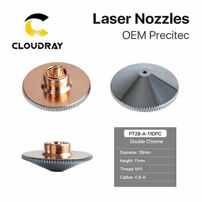 Fiber Laser Nozzle Double Layers Chrome-plating Dia.28 H.11mm for Laser Head