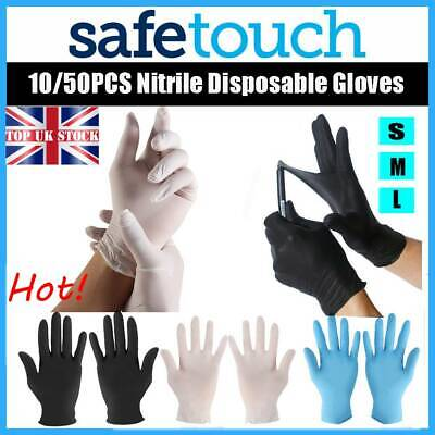 Hot Disposable Handschuhe Black Nitrile Latex Clear Vinyl Cleaning Supplies UK