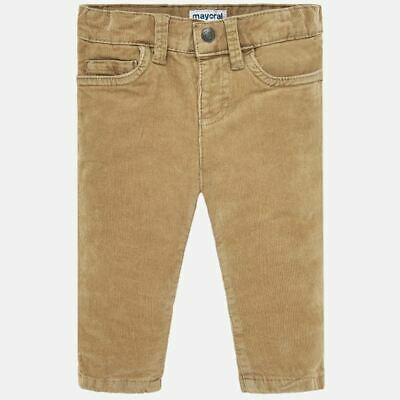 New Mayoral beige slim fit corduroy trousers for baby boys (502)
