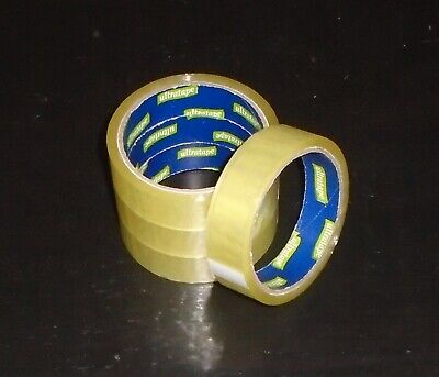"4 X Rolls Clear Packing Tape Cellotape Sellotape 24Mm 1"" X 24M Adhesive Roll"