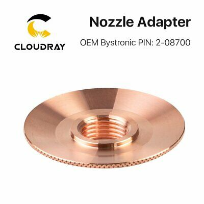 Fiber Laser Nozzle Adapter Dia.52mm H.9.5mm PIN:2-08700 for Bystronic Laser Head