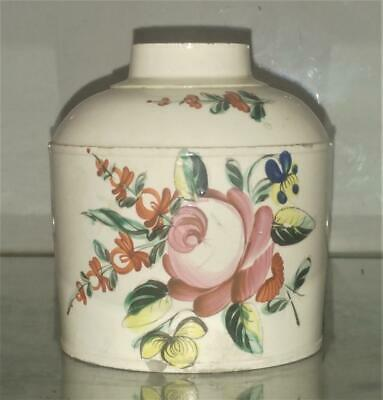 Scarce Welsh 18th C Swansea Cambrian Creamware Tea Caddy C 1780