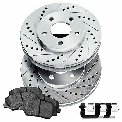 Rear Drill Slot Brake Rotors And Ceramic Pads For 2010-2013 Genesis Coupe