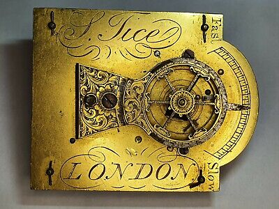 Early Chain Fusee Sedan clock movement J Tice LONDON Verge Fusee Pocket watch*
