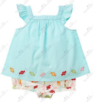 Gymboree NWT Chambray Blue VENICE SWEETIE DRESS RUFFLE ROMPER OUTFIT 0 3 Months