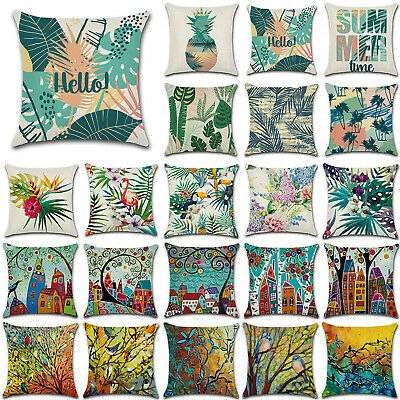 """18"""" Spring Art Easter Sofa Bed Pillow Cases Tropical Cushion Cover Home Decor UK"""