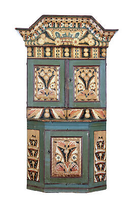 Early 19Th Century Swedish Folk Art Painted Cupboard