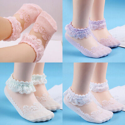 Newborn Cute Kids Baby Girls Socks Breathable Soft Cotton Children Lace Socks