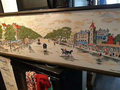 Moulin Rouge Paris French Painting by Armond Ruffet,The Illinois Moulding Comp
