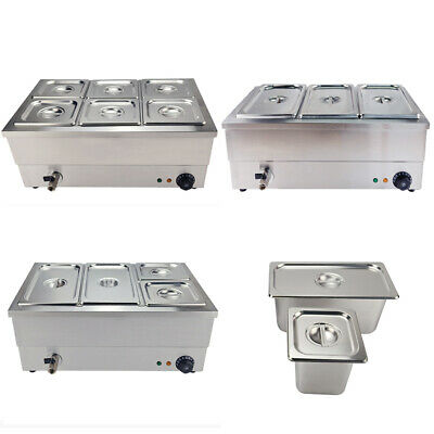 Electric Bain Marie Commercial Wet Well Heat Food Warmer Catering Trays GN Pan