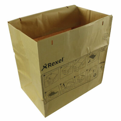 NEW! Rexel Recyclable Paper Shredder Bags BrownPack of 50 2102248